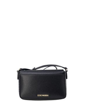 Leather Magnetic Flap Clutch Bag