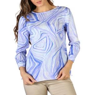 Abstract Print Long Sleeve Top