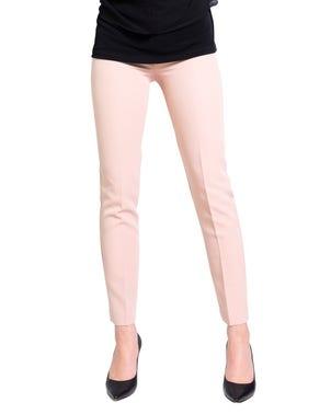 Plain Elastic Waist Crop Trouser