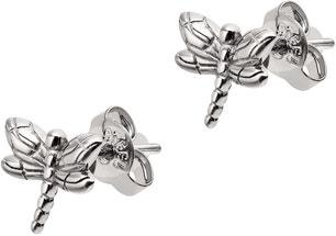 Sliver Stainless Steel Dragonfly Earring
