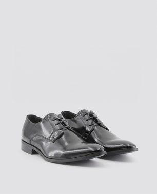Black Florent Patent Lace Up Shoes