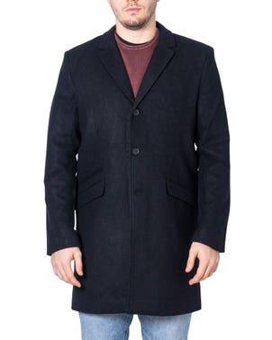Collar Long Sleeve Pocket Button Coat