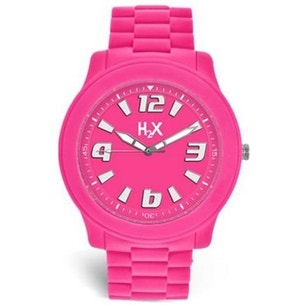 Pink Dial Silicone Strap Analog Watch