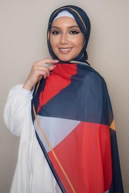 Geometric Printed Sunset Hijab