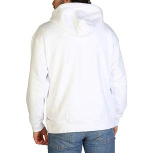 White Hoodie Long Sleeve Sweatshirt