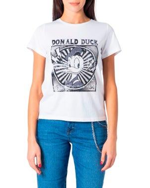 White Printed Donal Duck 1934 T Shirt