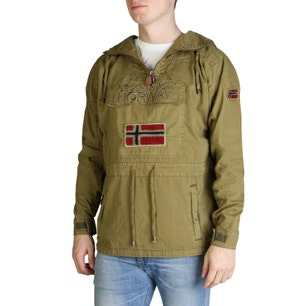 Kaki Chomer Long Sleeve Pocket Jacket