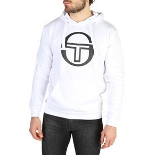 White Long Sleeve Hoodie Logo Sweatshirt