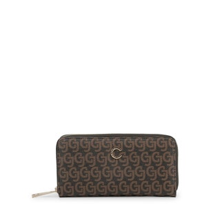 Leather Printed Round Zipper Wallet