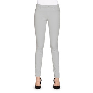 Grey Button Elastic Skinny Fit Jeans
