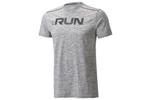 Grey Run Front Graphic SS T Shirt