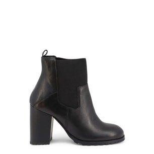 Almond Toe Leather Ankle Boots