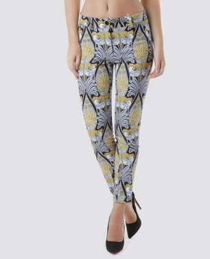 Printed Button Trouser