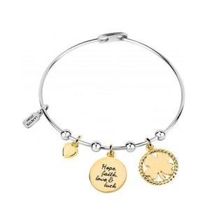 Silver Brass Four Leaf Clover Bracelet