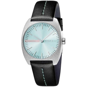 Leather Strap Green Dial Analog Watch