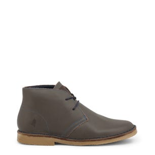 Grey Leather Ohio Mid Top Shoes