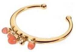 Gold Steel Rigid Diamond Bracelet