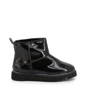 Black Leather Puritan Ankle Boots