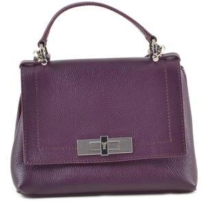 Leather Magnetic Flap Handbag