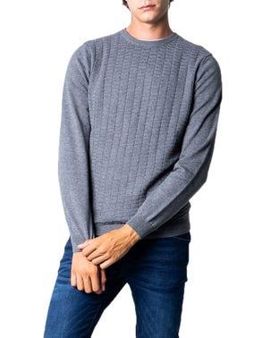 Grey Long Sleeve Elastic Cuff Knitwear