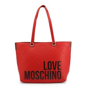 Red Magnetic Leather Print Shoulder Bag