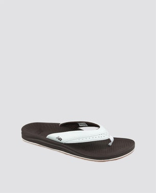 White Dotted Lining Flip Flops