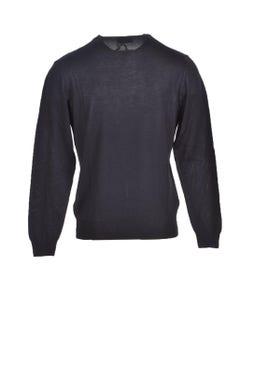 V-Neck Long Sleeve Plain Knitwear