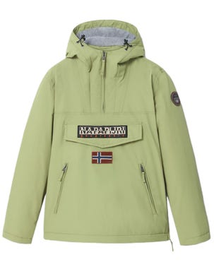 Green Hooded Zip Embroidered Jacket