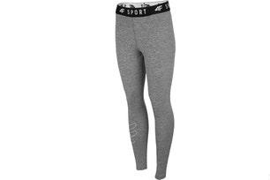 Black Elastic Emboosed Logo Waist Leggings