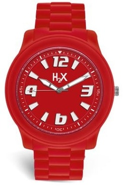 Red Dial Silicone Strap Analog Watch