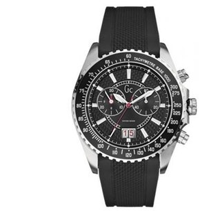 Black Dial Date Indicator Silicon Strap Watch