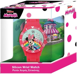Red Minnie Silicone Strap Analog Watch