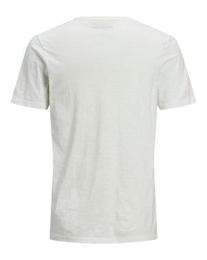 V-Neck ButtonShort Sleeve T-shirt