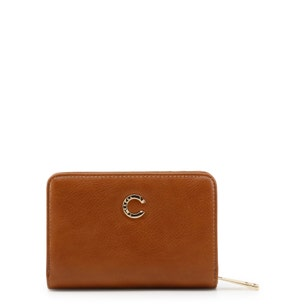 Brown Jenny Leather Round Zip Wallet