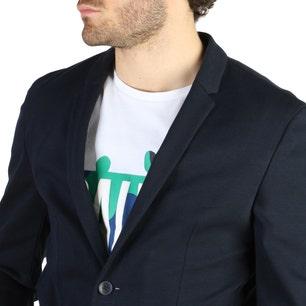 Collar Button Long Sleeve Blazer