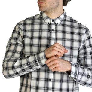 Long Sleeve Button Checkered Shirt