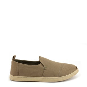 Canvas Round Toe Slip On Shoes