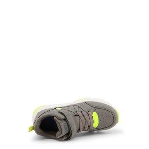 Kaki Velcro Strap Kids Sneakers