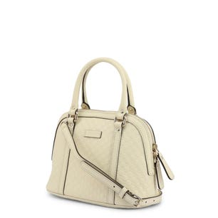 Leather Zipper Quilted Handbag