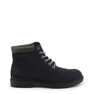 Blue Nubuck Clstar Lace Up Ankle Boots