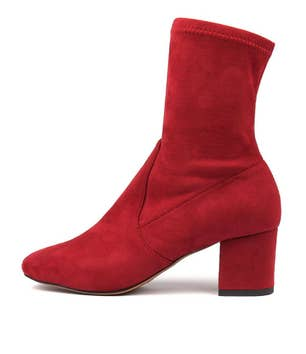 Red Careful Suede Boots