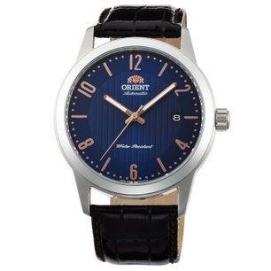 Howard Blue Dial Automatic Leather Strap Watch