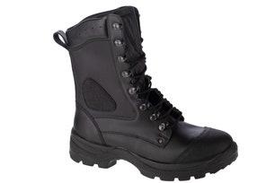 Black Leather Viking Trekking Shoes