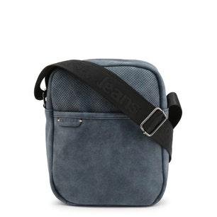 Blue Leather World Crossbody Bag