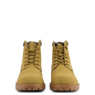 Brown Nubuck Clstar Lace Up Ankle Boots