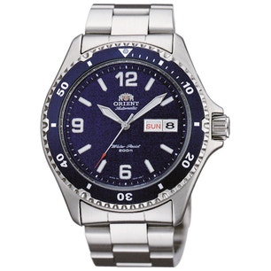 Navy Blue Dial Divers Automatic Steel Watch