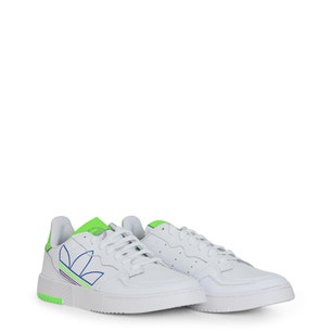 White Supercourt Lace Up Sneakers