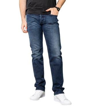 Denim Zip Button Slim Fit Jeans