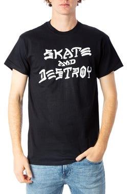 Round Neck Graphic Logo Print T-Shirt