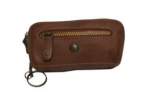 Leather Round Zipper Wallet